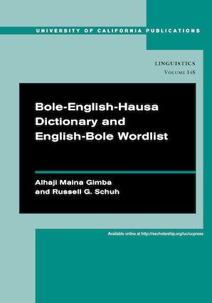 Bole-English-Hausa Dictionary and English-Bole Wordlist