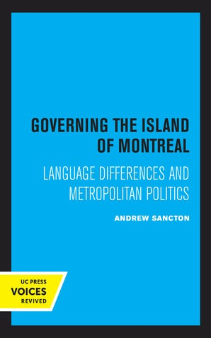 Governing the Island of Montreal