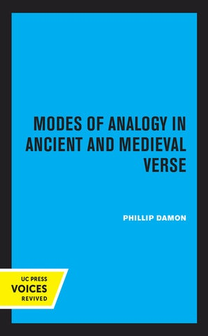 Modes of Analogy in Ancient and Medieval Verse