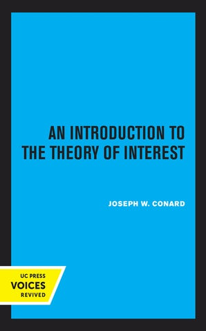 Introduction to the Theory of Interest