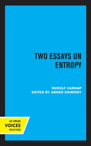 Two Essays on Entropy
