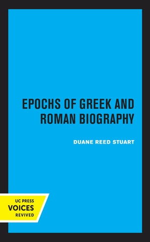 Epochs of Greek and Roman Biography