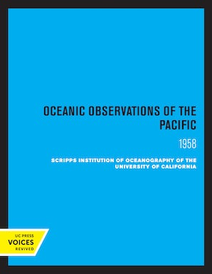 Oceanic Observations of the Pacific, 1958