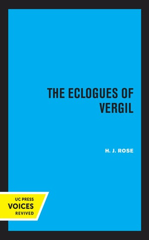 The Eclogues of Vergil